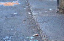 Litter lined streets