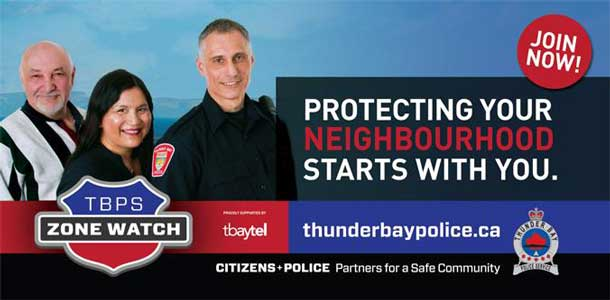Zone Watch Thunder Bay Police Service