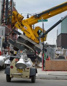 Crane recovery underway