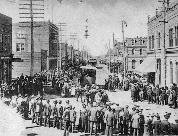 Town of Fort William in 1905 Celebrating Dominion Day
