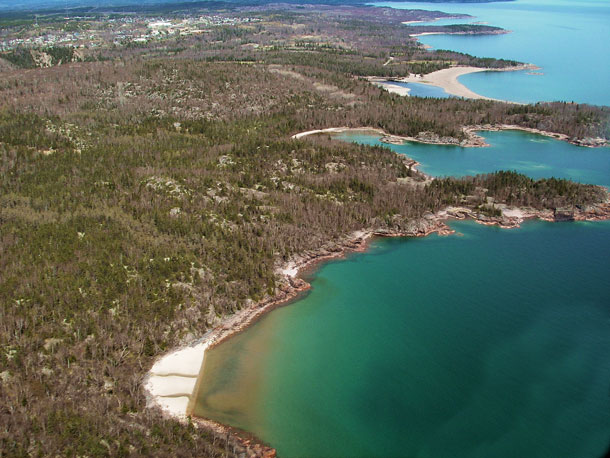 Aerial View of Lake Superior - Photo supplied from Town of Terrace Bay