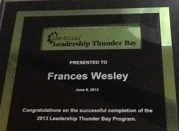 Leadership Thunder Bay Class of 2013
