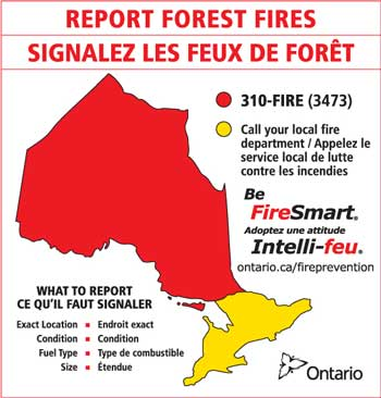 Fire Smart how to Report a Forest Fire