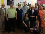 Business owners celebrate with Minister Gravelle