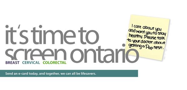 "Cancer Care Ontario (CCO) launching ""Time to Screen"""