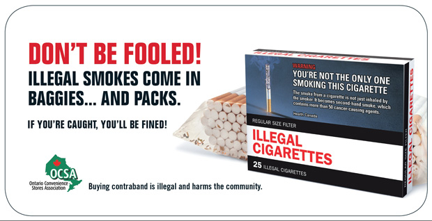 Illegal cigarettes come in many forms and packages