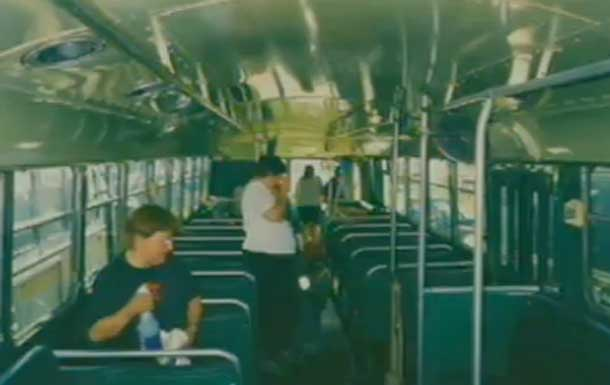 Interior view of the Brill Trolley Buses. Charlie Brown photo