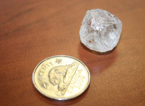 De Beers shows of the largest diamond ever found in Canada