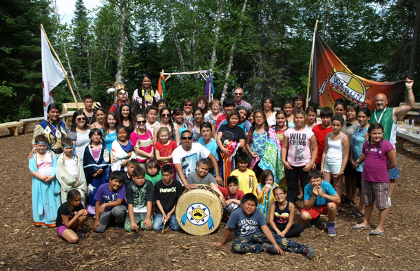 THE WABUN YOUTH GATHERING featured two weeks of youth coming together to celebrate Aboriginal culture and heritage, at the Elk Lake Eco Centre in Elk Lake Ontario from July 15 to 26, 2013. Pictured are junior youth from the first week of the gathering.