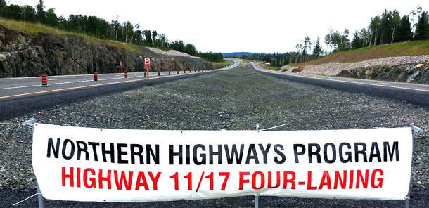 The Northern Highways Program reflects the high priority our government's puts on the expansion and improvement of northern highways. Our investments in highway infrastructure are creating jobs and fostering prosperity throughout Northern Ontario.""