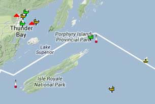 Track the ships in Lake Superior on Ship Map on NNL