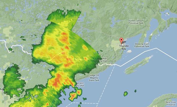 Weather Radar Map at 20:25EDT