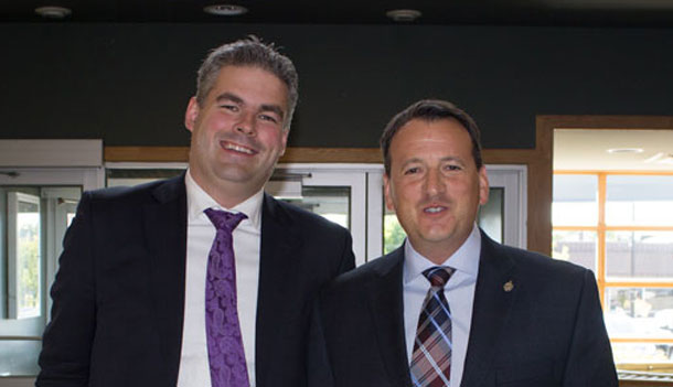 Minister Rickford and FedNor's Mark Wright