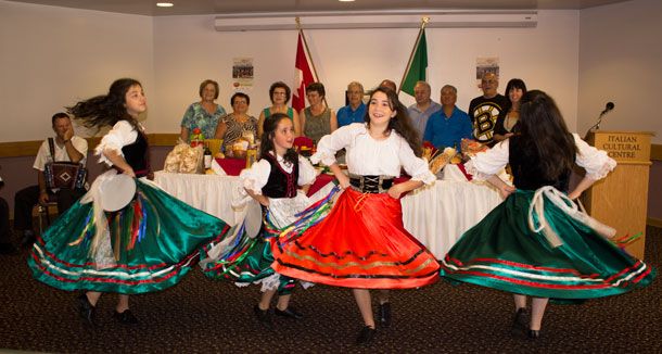 Italian Dancers help kick of Thunder Bay's 'Family Reunion' at the Italian Cultural Centre