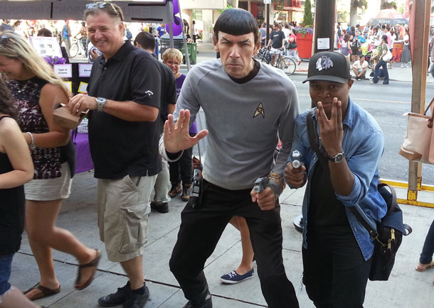 Live long and prosper in Toronto. Commander Spock at Buskerfest - its not Leonard Nimoy