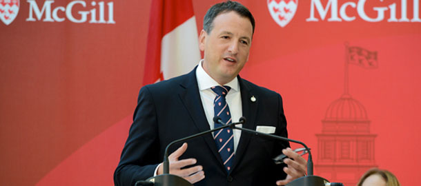 Minister Rickford in Montreal at McGill University