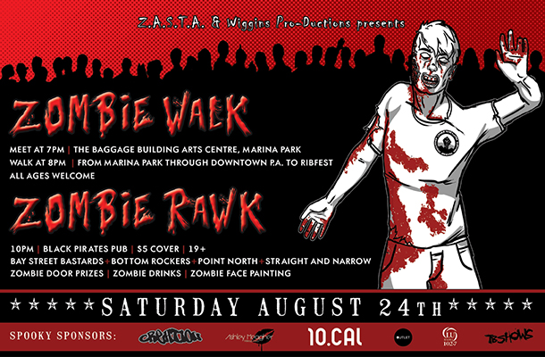 Thunder Bay's annual Zombie Walk & Rawk invades the Entertainment District this Saturday.