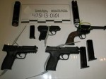 Canada Border Guards Grab Guns