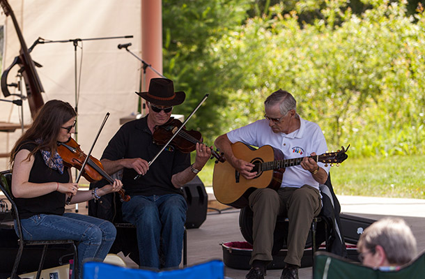 Kam Valley Fiddlers were one of several acts entertaining crowds during Sunday's Festivities. Photo by Scott Hobbs.