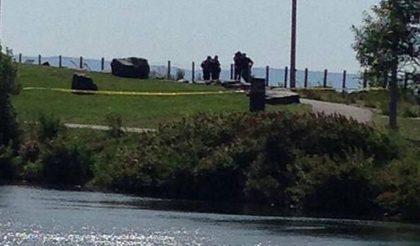 Thunder Bay Police were on site at Prince Arthurs Landing on Saturday Morning