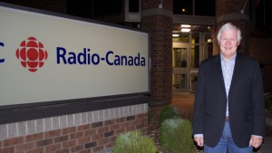 Don Edwards at the CBC Thunder Bay Studios