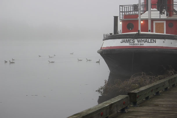 The James Whalen was not open to the public at Riverfest