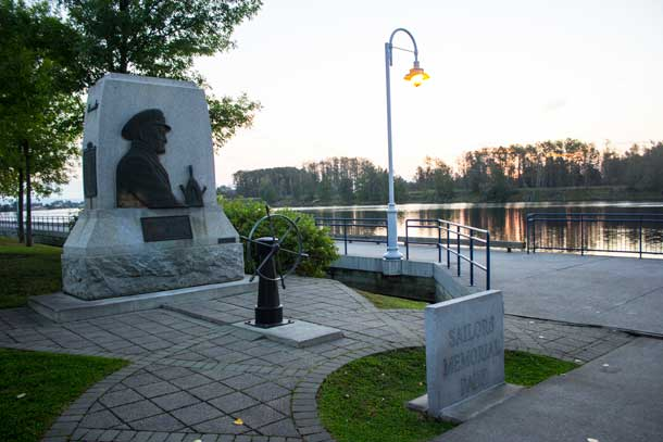 The Kam River Park Sailor's Memorial
