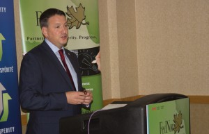 Minister Rickford at Fednor Announcement