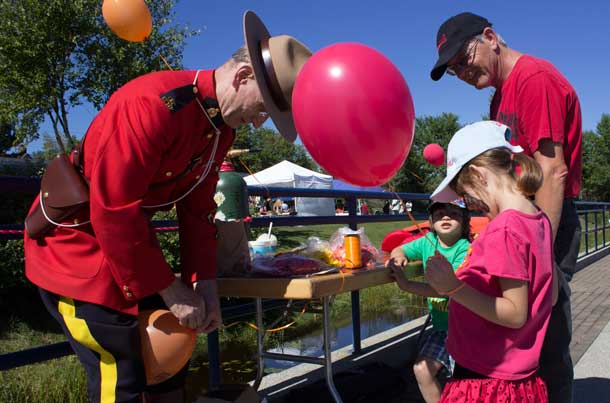 The RCMP were on hand at Riverfest making friends with the children and adults alike