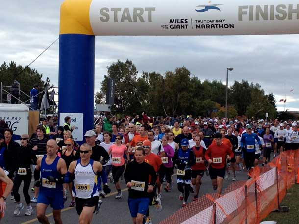 Miles with the Giant - A reason to run... support the Thunder Bay Regional Health Sciences Centre