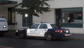 Thunder Bay Police on scene of break and enter on Friday on May Street in the downtown Fort William Business District