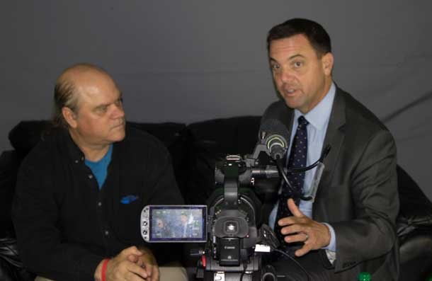 Tim Hudak talks about the PC Plan for Northern Ontario - Photo by Rebecca Ash