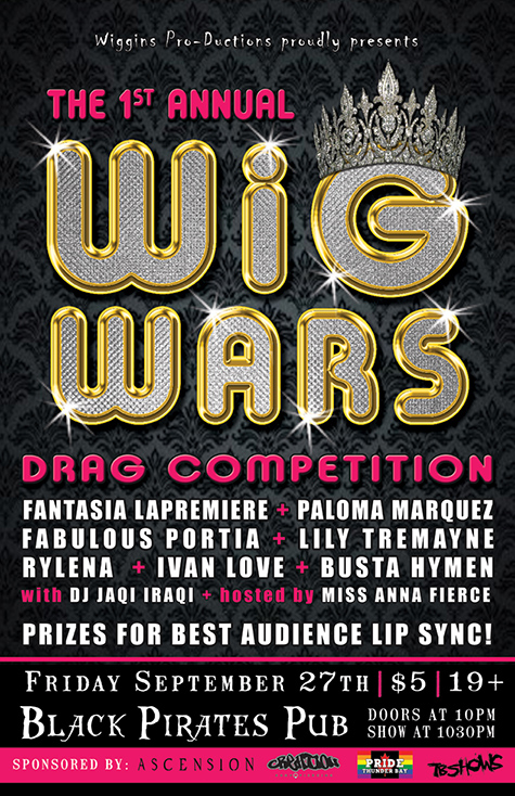 Wig Wars struts onto the Black Pirates Pub stage Friday September 27th