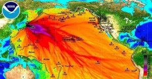NOAA Image Map of Radiation Fallout from Fukushima Nuclear Disaster