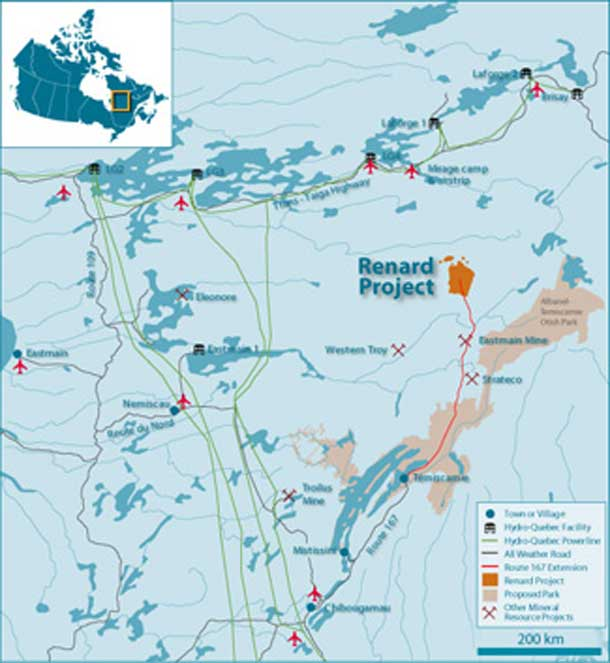 Renard Diamond Mine in Northern Quebec