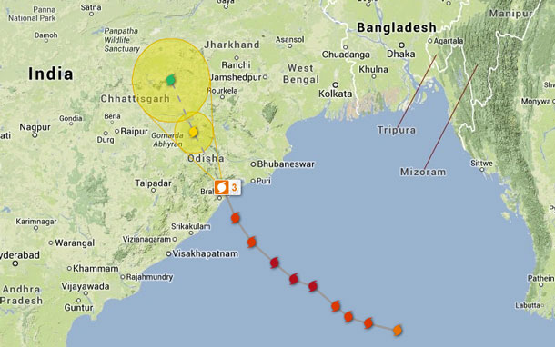 India Cyclone Phallin