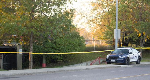 Police investigate at Kam River Park.