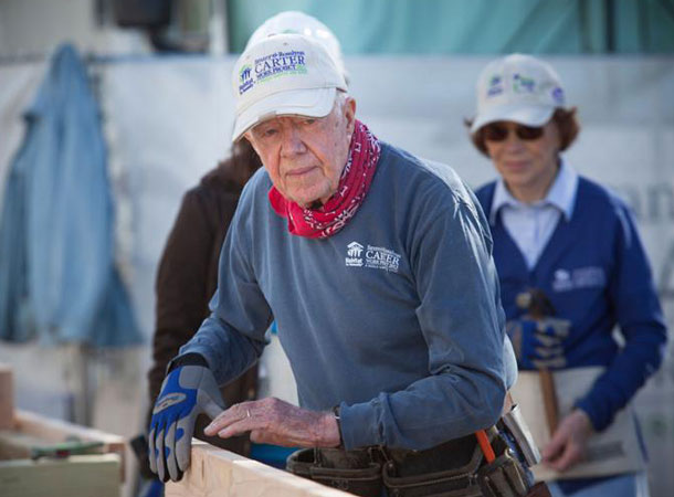 President and Mrs. Carter joined nearly 150 volunteers today to help build and repair homes in Union Beach, N.J., as part of Habitat for Humanity's 30th annual Jimmy and Rosalynn Carter Work Project.