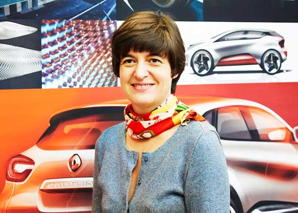 Sidonie Camplan, based in France, is Renault color designer for the Captur crossover and is one of the company's 17% female managers globally. (Photo credit: Yannick BROSSARD)