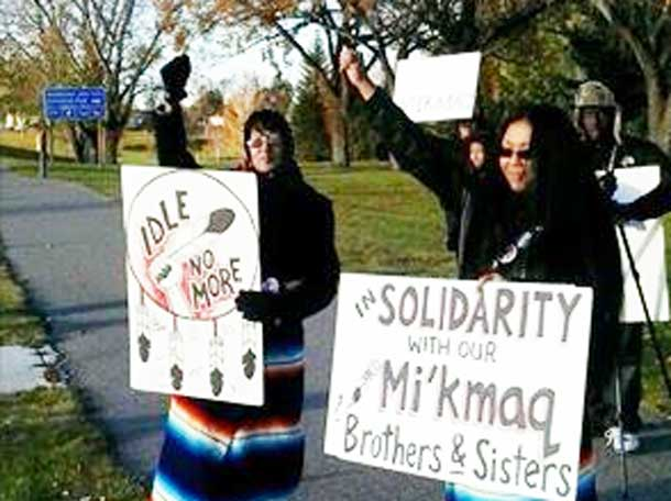 Rallying support for Elsipogtog First Nation