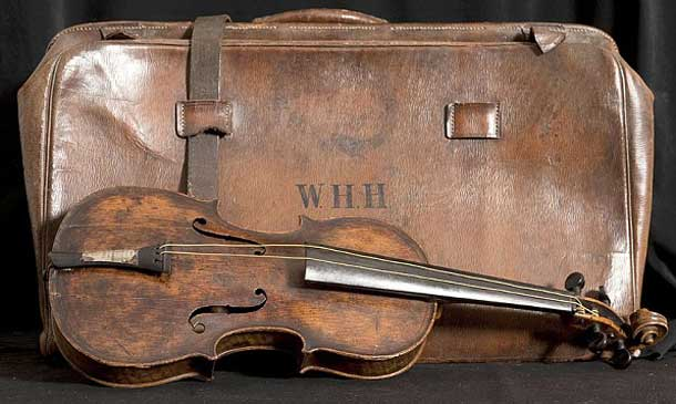 Violin owned by Wallace Hartley was sold for $1.6 million today. Wallace played the violin aboard the RMS Titanic