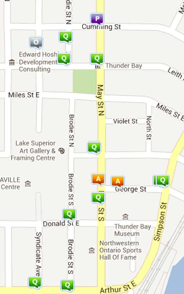 Crime Map Thunder Bay South.