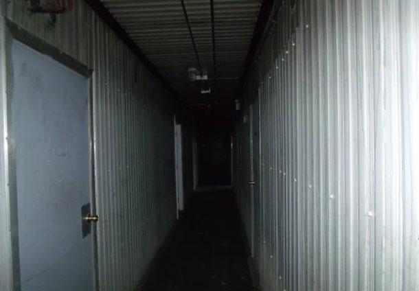 Hallway in Attawapiskat Shelter after the fire