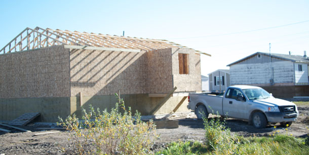 There is new housing being built in Attawapiskat