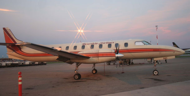 Bearskin Airlines flies the Metroliner.
