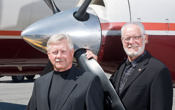 Cliff and Harvey Friesen from Bearskin Air have been nominated for the Jim Glass Award
