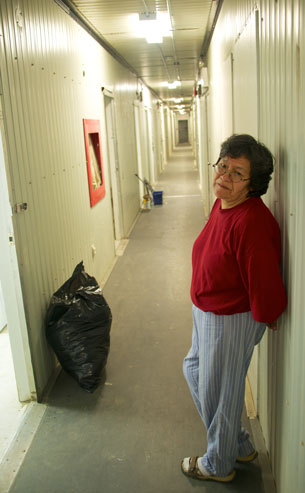 Denise Okimaw is a resident of the emergency shelter trailer complex on the Eastern edge of Attawapiskat First Nation