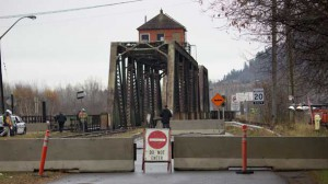 The James Street Bridge remains closed to train, vehicle and pedestrian traffic