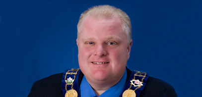 Mayor Rob Ford of Toronto
