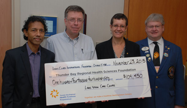 Lions Vision Care Centre Advisory Board Re-established with Announcement of $104,450 Gift for Lions Vision Care Centre